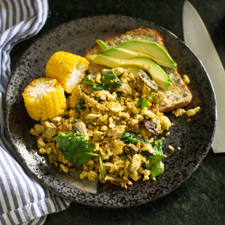 Tofu and Vegetable Scramble