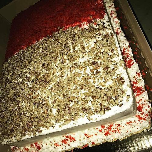 Red Velvet Half Sheet Cake
