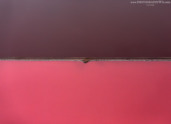 Aerial Abstract Pinklake Split