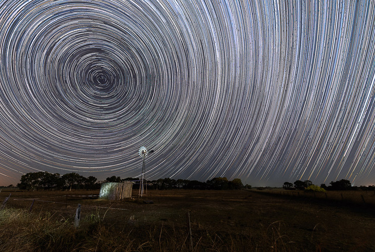 Greenlands Wind Mill Star Trail