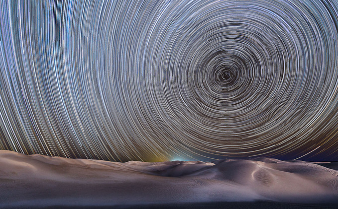 Sand Dunes Star Trail