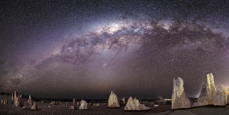 Pinnacles Half Milky Way