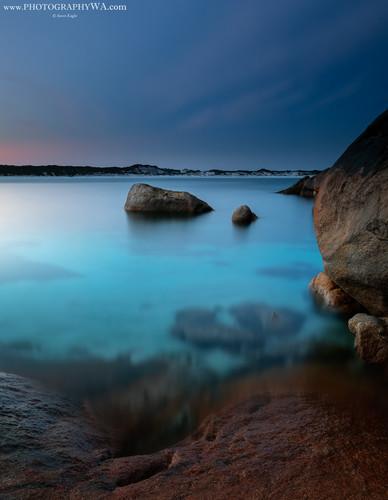 Lucky Bay Rocks Sunset