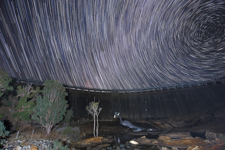 Wellington Dam Star Trail