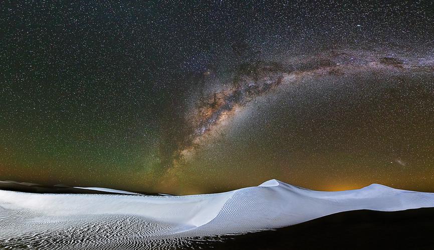 Large Sand Dunes Milky Way