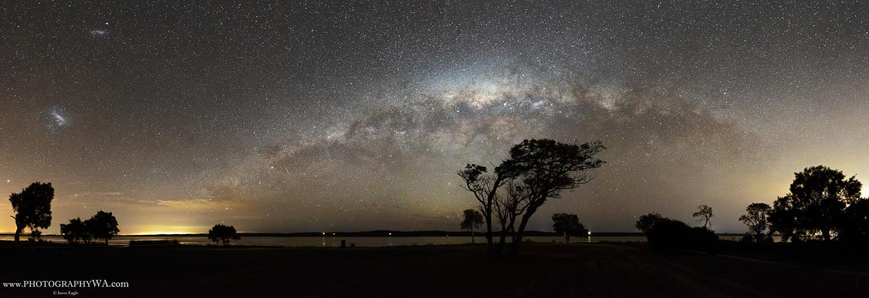 Heron Point Silhouette Milky Way
