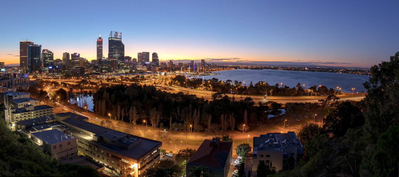 Perth City Sunrise Panorama