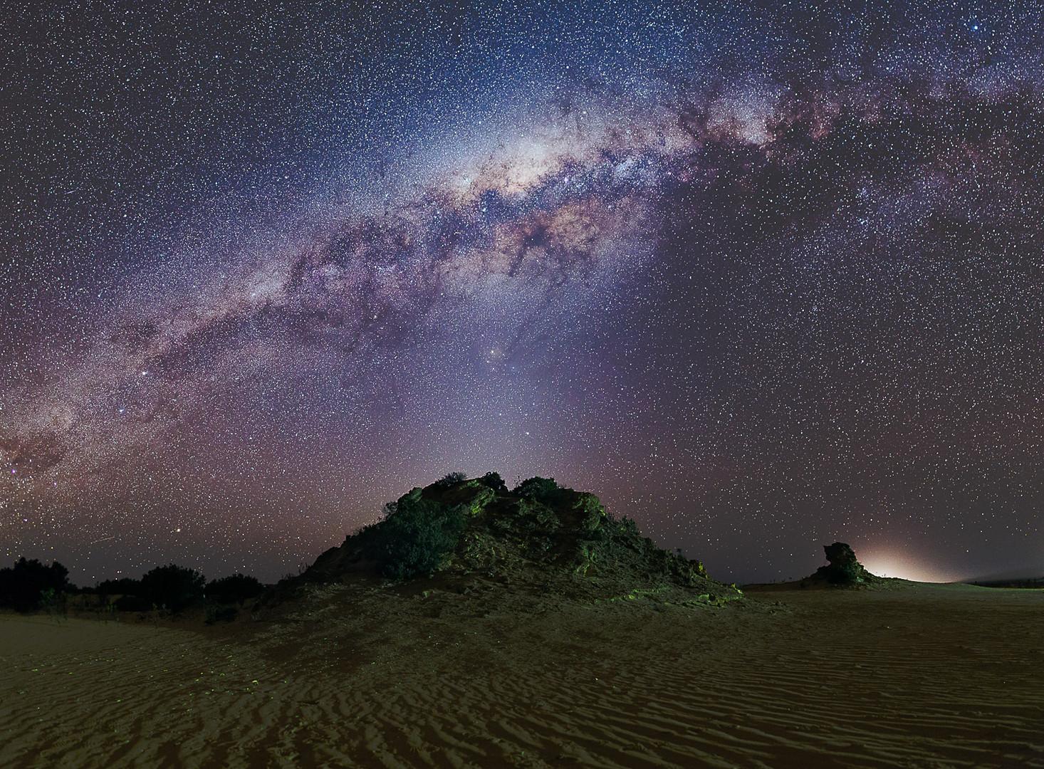 Pinnacle Mound Milky Way