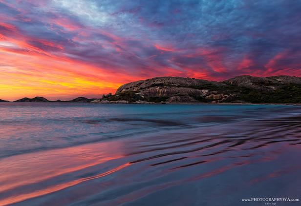 LuckyBay Sunset Fire Cliffs