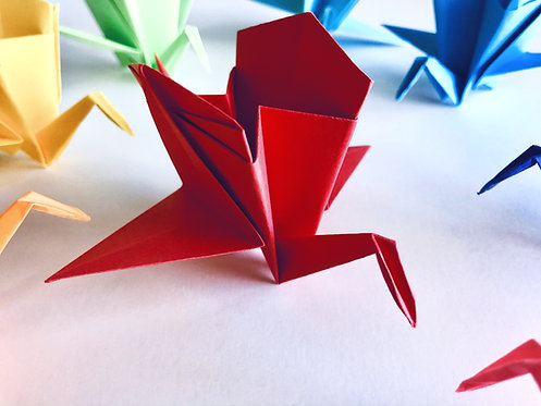 Origami Carriage Crane :: 12 pieces