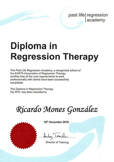 Certificado Terapia de Regresión a Vidas Pasadas