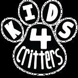 Kids 4 Critters Logo B & W.png