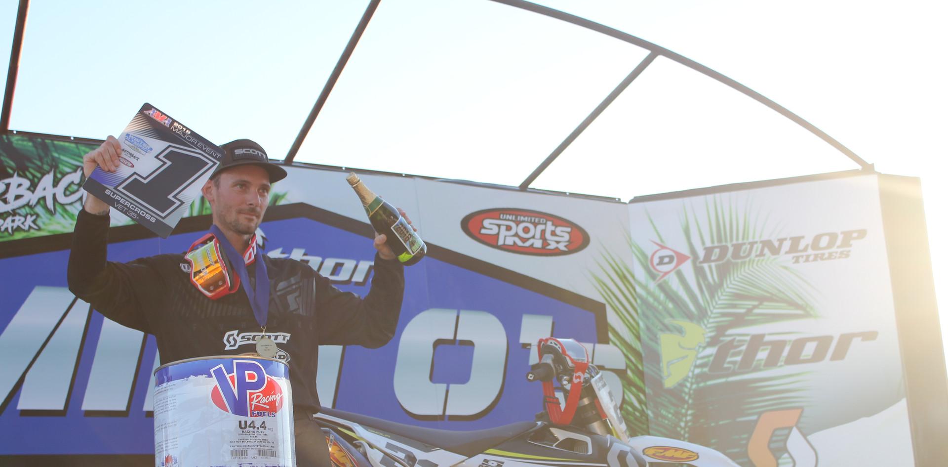 New champion on the podium