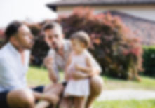 Homosexuelles Paar mit Tochter