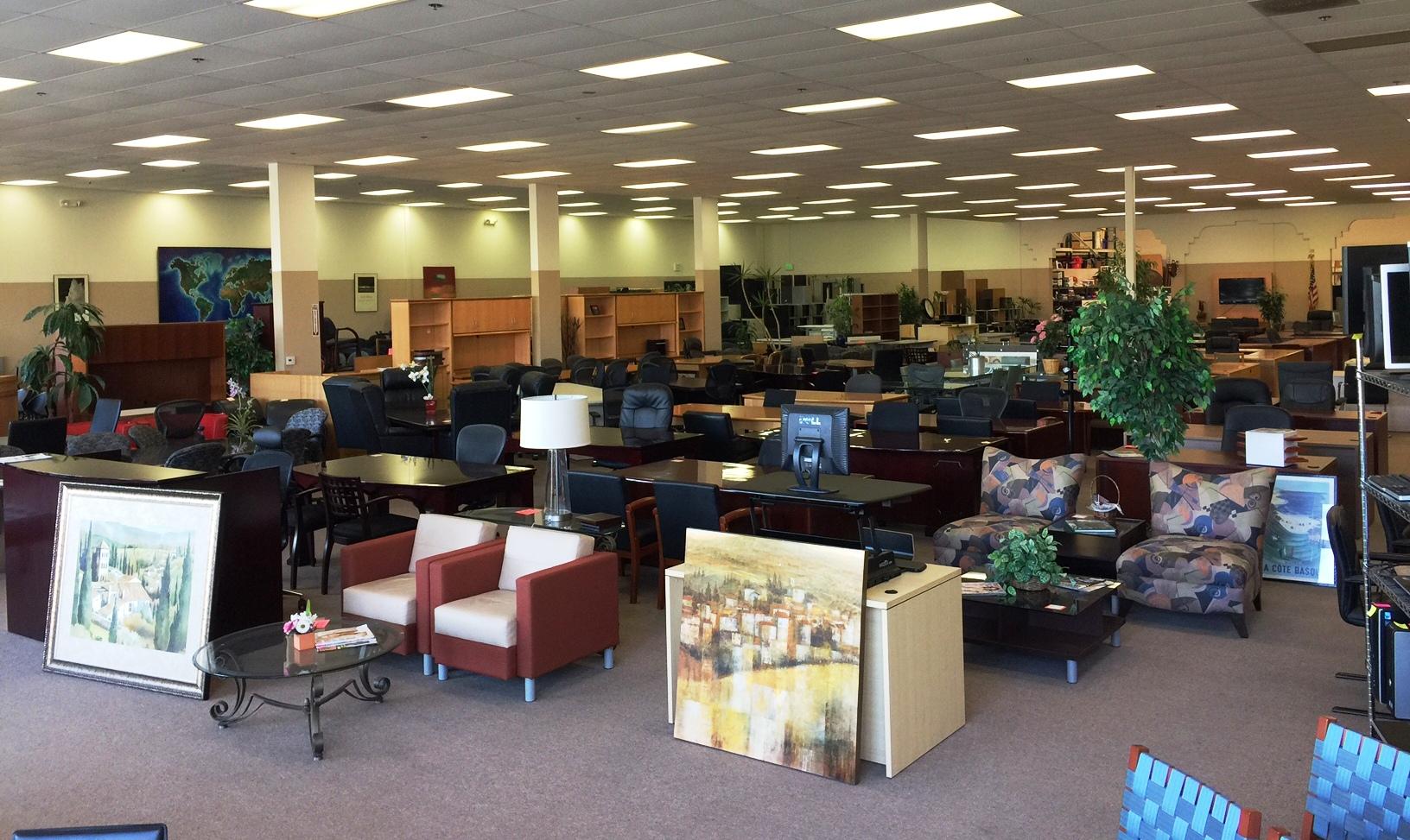 Wide Office Showroom Floor View