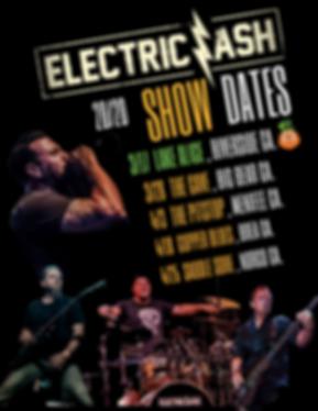 Electric Ash Shows Dates 1st qtr 2020 FB