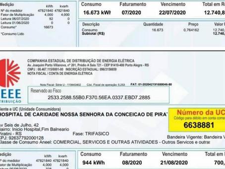 Hospital de Piratini reduz em R$ 12 mil a conta de luz depois da instalação de painéis fotovoltaicos