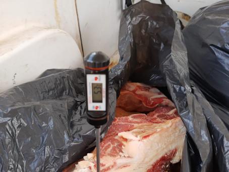 Operação da BM apreende 143 quilos de carne em açougues de Piratini