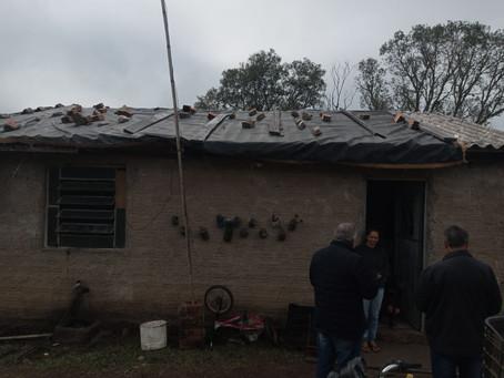 Oito meses depois do granizo, famílias ainda esperam por ajuda da Defesa Civil