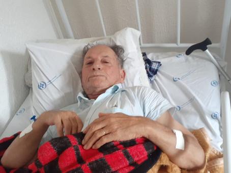 Família faz campanha para seu Valdo Garcia trate um câncer no pulmão