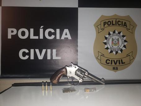 Polícia efetua duas prisões envolvendo tentativa de homicídio e tráfico em Piratini