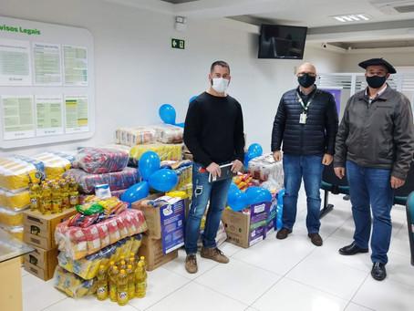 Ação do Sicredi Piratini arrecada mais de dois mil quilos de alimentos