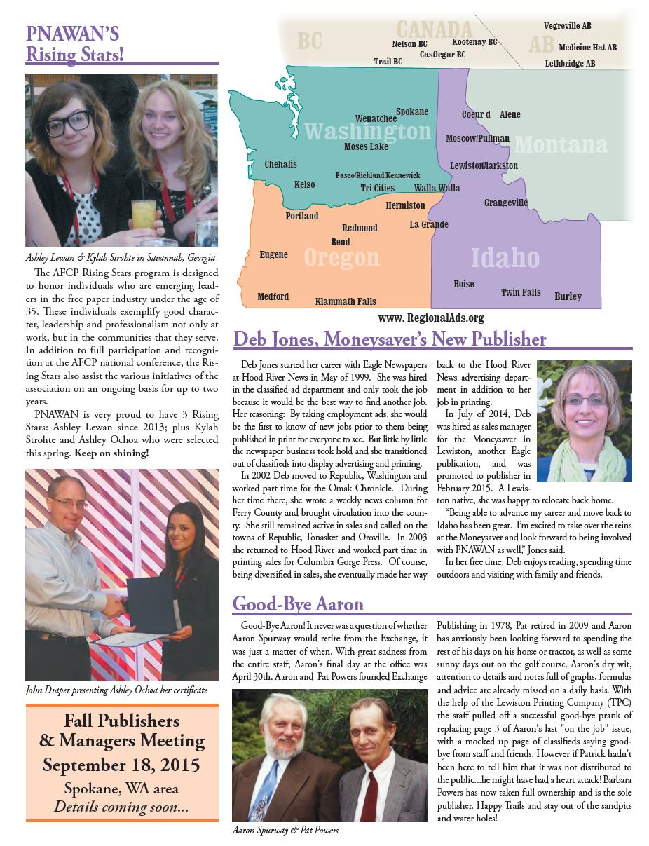 Summer 2015 PNAWAN Newsletter