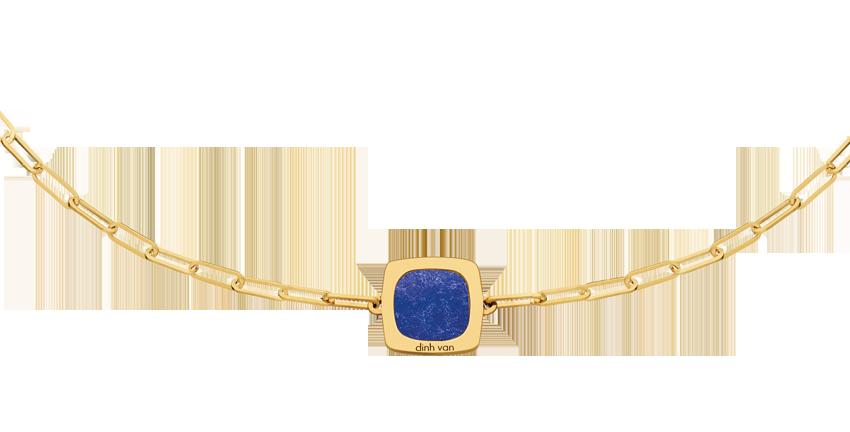 Collier Impression or jaune et lapis-lazuli