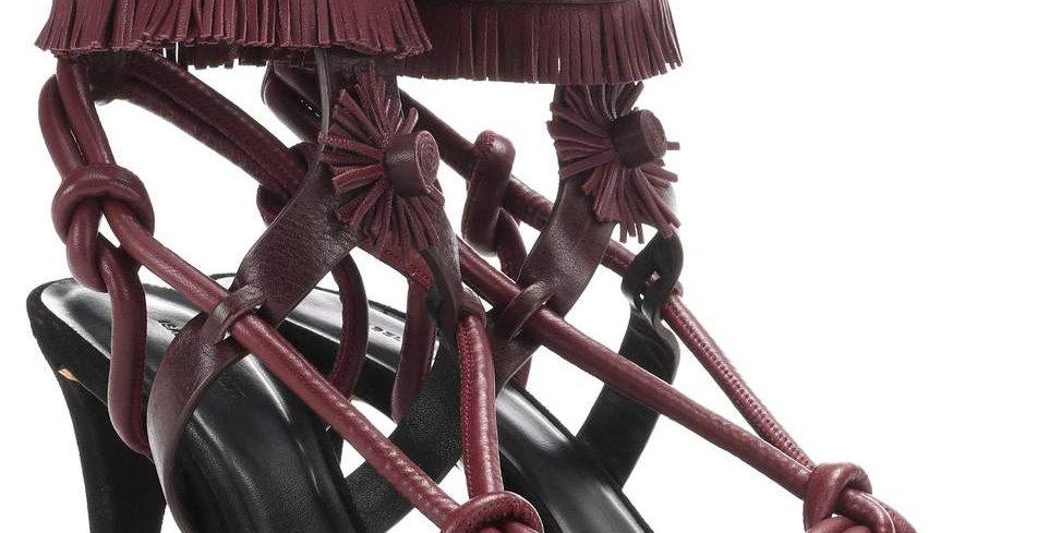 ISABEL MARANT Sandales en cuir à ornements Abrily