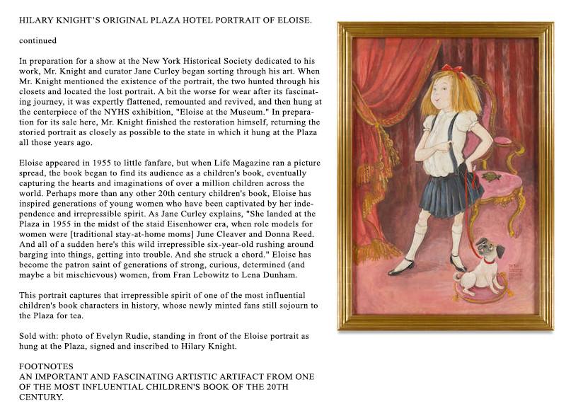 Lot 11b The World of Hilary Knight at Bo