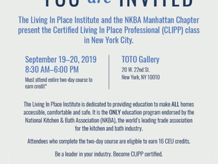 Become a Certified Living in Place Professional (CLIPP) in TWO days!