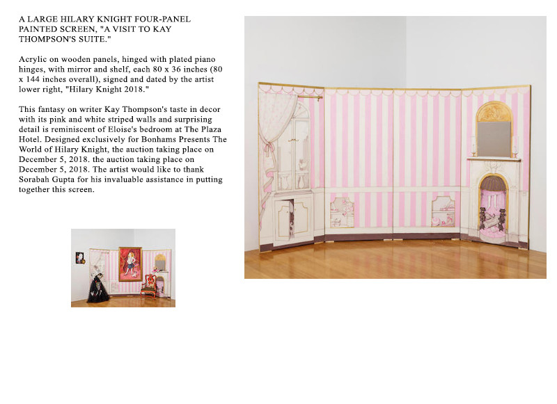 Hilary Knight's show for Bonham's Art House