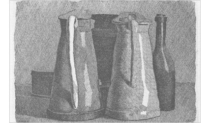 "© 2010 Artists Rights Society (ARS), New York / SIAE,  Rome Giorgio Morandi's ""Still Life with Five Objects"""