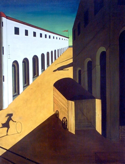 "© 2010 Artists Rights Society (ARS), New York / SIAE, Rome  Giorgio de Chirico's ""Melancholy and Mystery of a Street"""