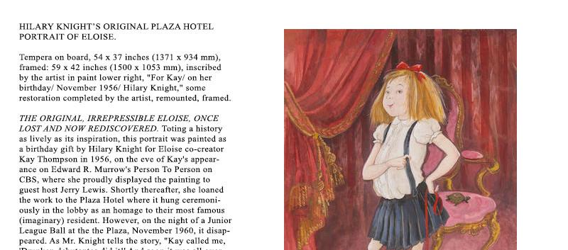 Lot 11 The World of Hilary Knight at Bon
