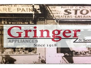 GRINGER ANNOUNCES NEW LOGO AND SHOWROOM HOURS
