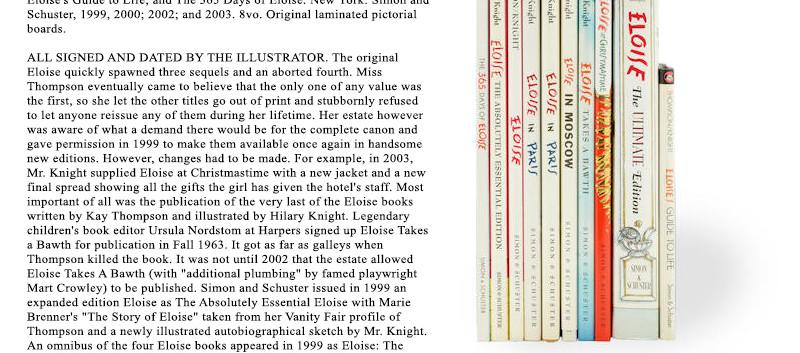 Lot 17 The World of Hilary Knight at Bon