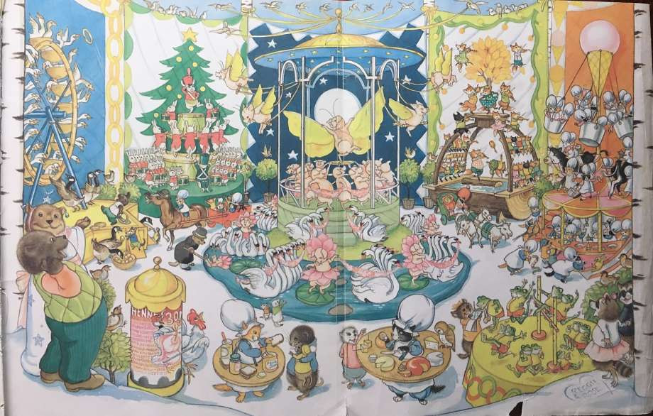 "Vanessa Hua Illustrations from Hilary Knight's ""The Twelve Days of Christmas,"" a holiday favorite for Vanessa Hua and her family."