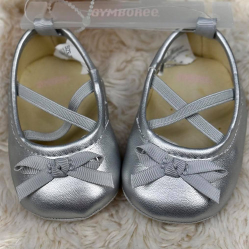 Girls Silver Dress Shoes, NWT, Size 1