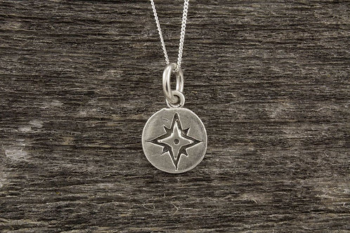 Mini Compass Rose Necklace - Mackenzie Jones