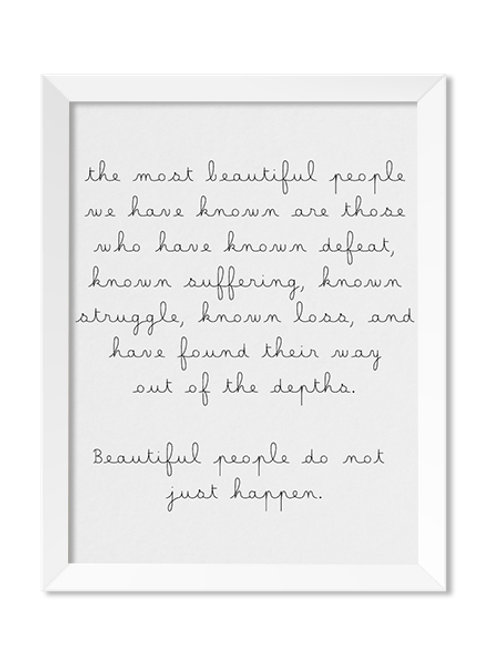 The Most Beautiful People  8x10 Print - IM Paper Co