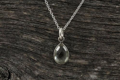 Green Amethyst Stone Necklace - Mackenzie Jones
