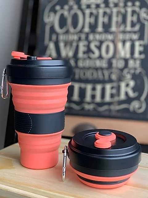 Black / Peach Orange Coffee Cup - Love Thy Planet