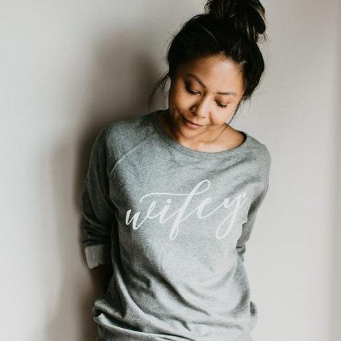 Grey Wifey Sweater -  Love Plus Design