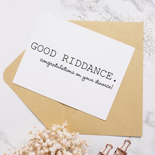 Good Riddance Divorce - Hoot Events