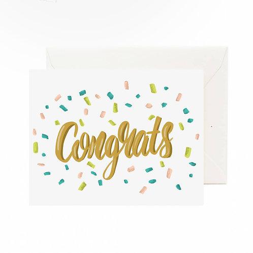 Congrats Confetti Card - Jaybee Design