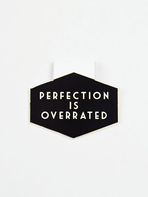 Perfection Is Overrated  - Magnetic Bookmark - IM Paper