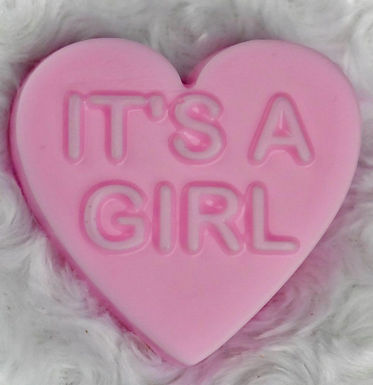 15. It's A Girl Shea Butter Heart