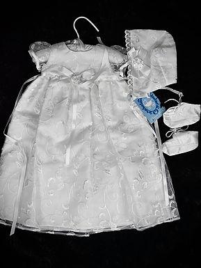 Formal Gown and Bonnet Set, Newborn-3M
