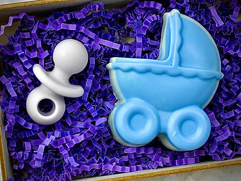 8. Blue Layered Carriage Gift Box
